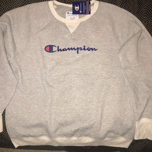 New Champion oxford gray sweatshirt XL